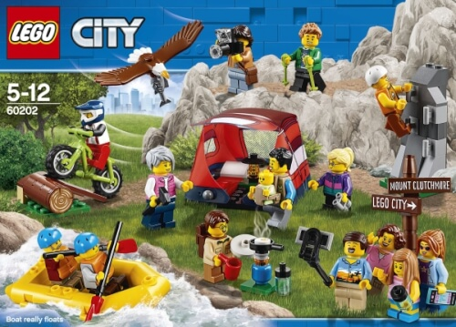 LEGO Bau- & Konstruktionsspielzeug Baukästen & Konstruktion LEGO® City Figur aus Set 60202 Schlauchboot & 2 Figuren mit Pattel NEU