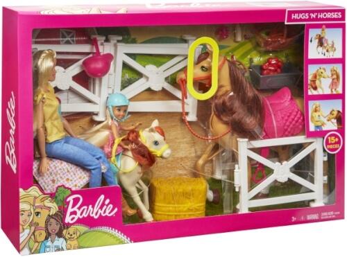 Barbie FXH15 Reitspaß Spielset mit Barbie (blond), Chelsea