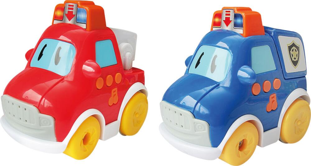 SpielMaus Baby Press & Go Fahrzeuge, 2 fach sortiert