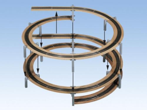 H0 LAGGIES Gleiswendel-Komplettbausatz, Aufbaukreis