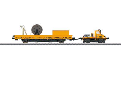 Märklin 39940 H0 Zweiwege-Unimog mit Fahrleitungsbauwg