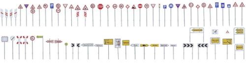 H0 Verkehrsschilder-Set