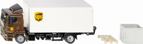 MAN LKW mit Kofferaufbau und Ladebordwand UPS, Siku World
