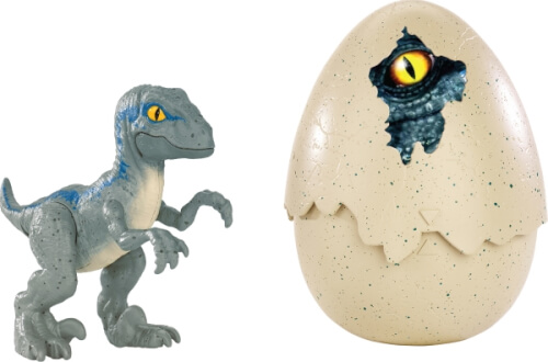Mattel Fmb92 Jurassic World Schlüpfender Dino Velociraptor Blue