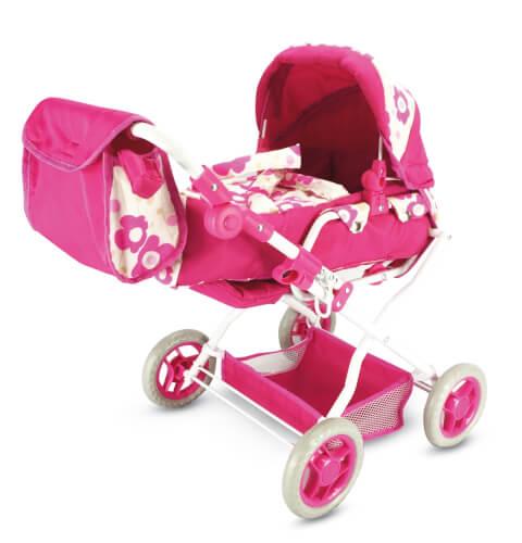 höhenverstellbar Amia Puppenwagen mit Tasche Babypuppen & Zubehör Puppen & Zubehör