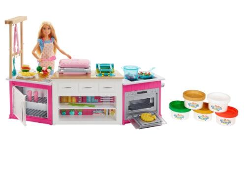 Mattel FRH73 Barbie Deluxe Küche Spielset & Puppe FRH73 ▷ jetzt ...