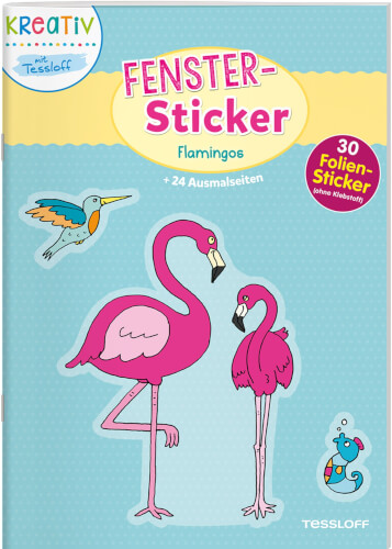 Tessloff Fenster-Sticker. Flamingos