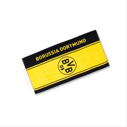 Borussia Dortmund Bvb 09 Bvb Duschtuch Mit Logo Im Streifenm