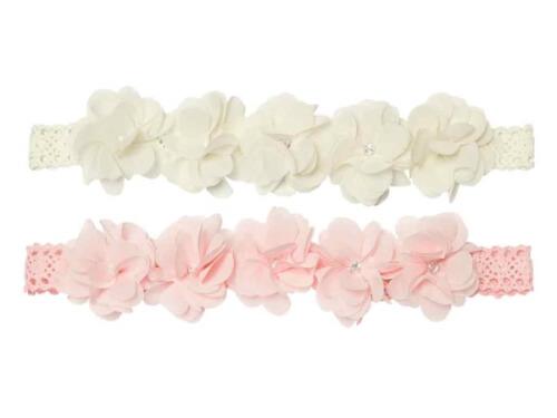 Haarband mit Blumen 2 Farben