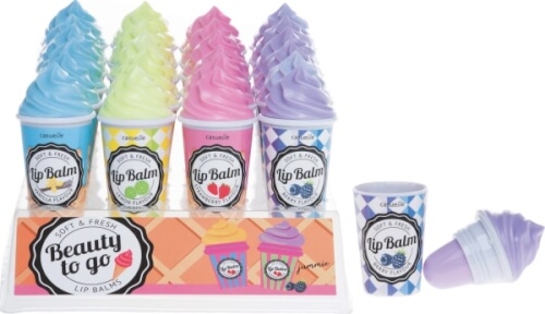 Lipgloss Eis in 4 Düften
