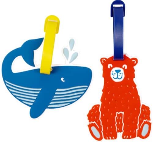 Kofferanhänger Reisezeit Kids, sortiert (Wal/Bär)