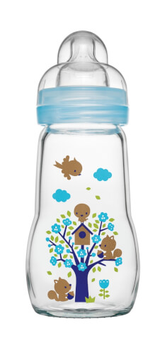 MAM Feel Good Glass Bottle 260 ml sortiert