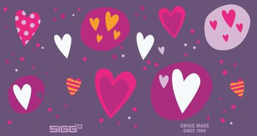 SIGG Glow Heartballoons 0,4 Liter Trinkflasche