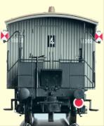 H0 Geländer für Zugschluß für 21