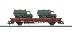 Märklin 46936 H0 Niederbordwagen m.Unimog DB