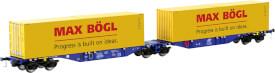 Containertragwagen Sggmrss 90 blau ERR 2x Max Bögl Container