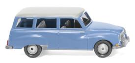 Wiking Auto Union 1000 Universal - blau mit weißem Dach