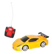 Racer R/C Straßenwagen gelb, 27MHz, 1:24