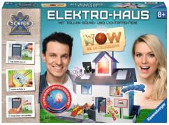 Ravensburger 189397 ScienceX® Maxi WOW 3D Elektrohaus, Experimente mit Elektrotechnik