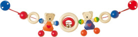 GoKi Kinderwagenkette Herzbären-Pärchen mit Clips