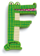 F - Tier Holzbuchstaben