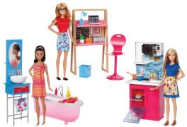 Mattel Barbie Deluxe-Set Möbel & Puppe Sortiert