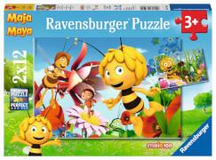 Ravensburger 07594 Puzzle Biene Maja auf der Blumewiese 2 x 12 Teile