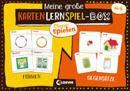 Loewe Clever spielen - Meine große KartenLernSpiel-Box - Formen/Gegensätze