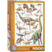 EuroGraphics Puzzle Dinosaurier des Jura 1000 Teile