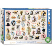 EuroGraphics Puzzle Yoga Kätzchen 500 Teile