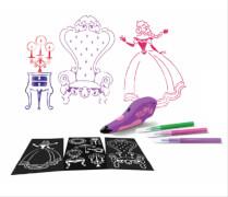 Sprazy Starter Princess, Airbrush Set mit Schablonen und Stiften, ab 4 Jahren