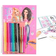 TOPModel Malbuch mit Stifte-Set