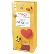 TOPP - emoji® Häkelset ''Hab' dich Lieb!