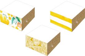 Notizblöcke mit Farb-/Glitterschnitt - All about yell. sortiert nicht frei wählbar