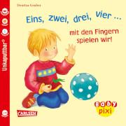 Eins, zwei, drei, vier - mit den Fingern spielen wir! Taschenbuch, 16 Seiten, ab 12 Monaten