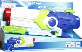 Splash & Fun Wasserpistole mit Pumpfunktion, Volumen 1700 ml, Reichweite 11 m, ca. 46x10x23 cm