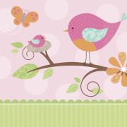16 Servietten Tweet Baby Pink 33 x 33 cm