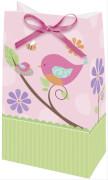 12 Partytüten Tweet Baby Pink 13 x 8 cm