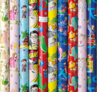 Geschenkpapier Sortiment Premium Bambini 2m x 70cm