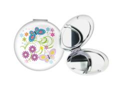 Taschenspiegel Schmetterling weiß