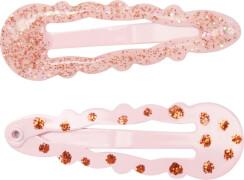 Haarclip rosa + Kupfer no.2